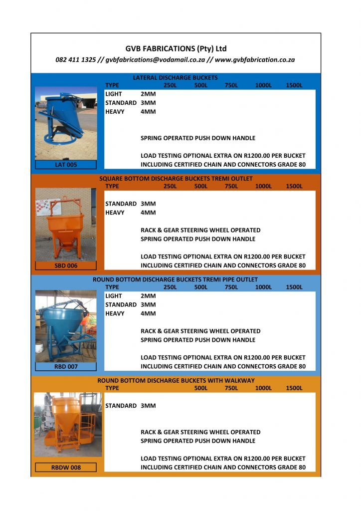 Speciality Concrete Buckets