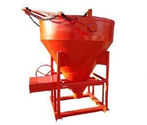 ROUND BOTTOM DISCHARGE BUCKET (Red)