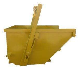 SELF TIPPING CRANE AND FORKLIFT BUCKET